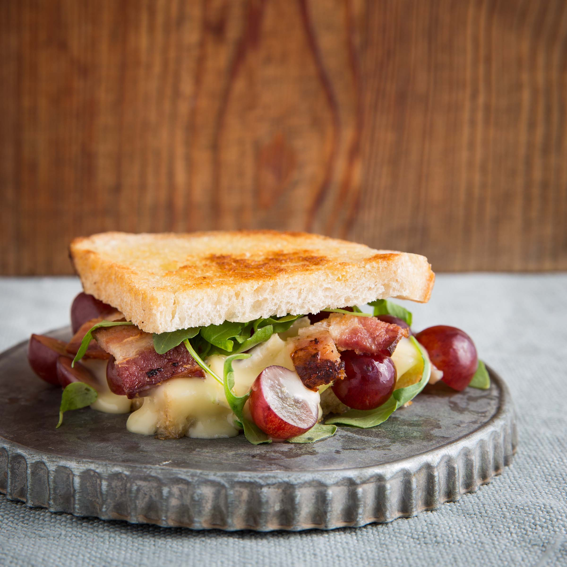 Brie and Chilean Grape Grilled Cheese