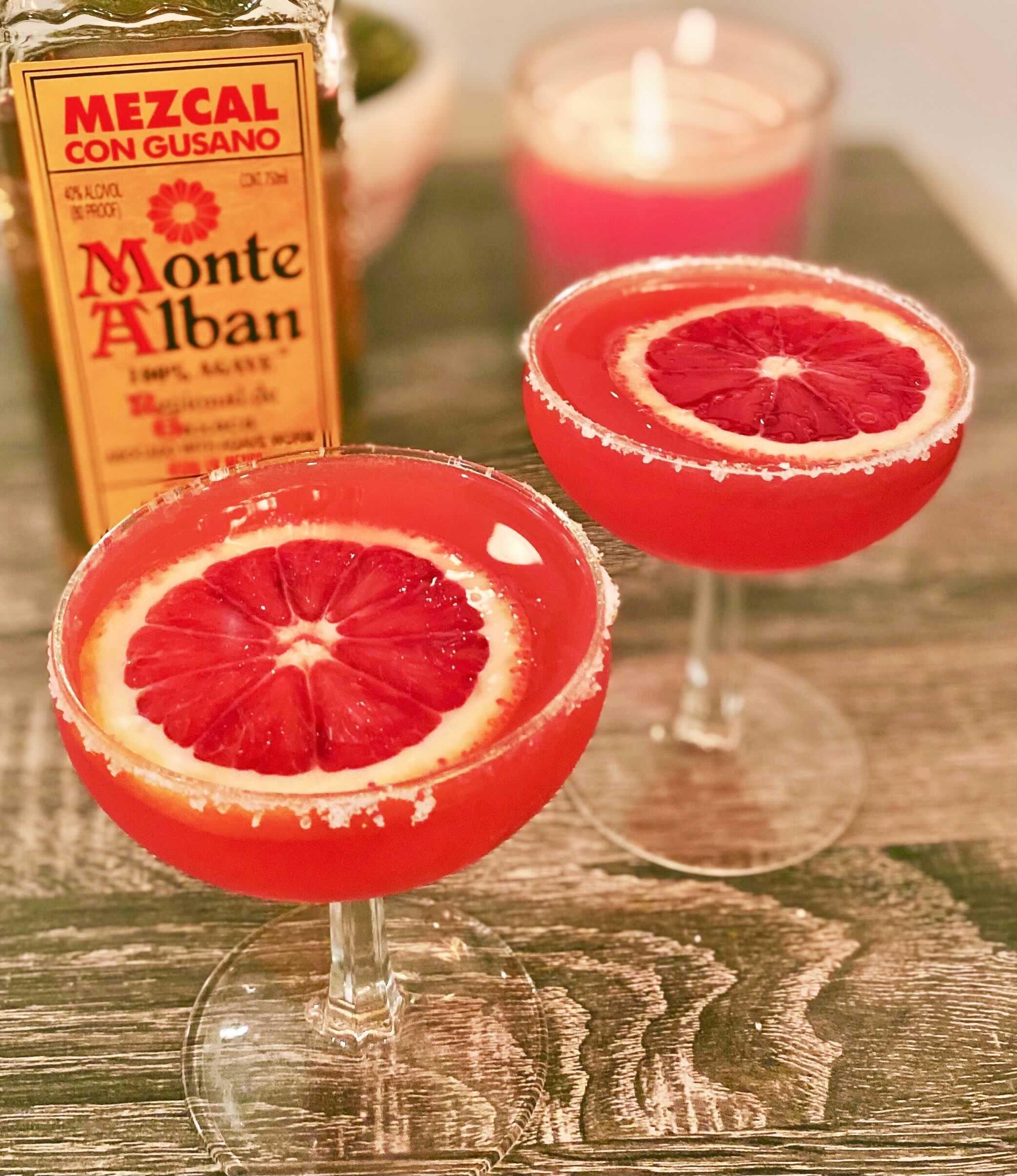 Blood Orange Margarita with Mezcal Tequila
